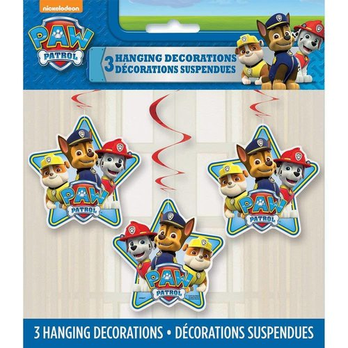 *Paw Patrol Hanging Decorations 3ct