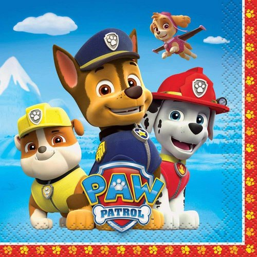 *Paw Patrol Beverage Napkins 16ct