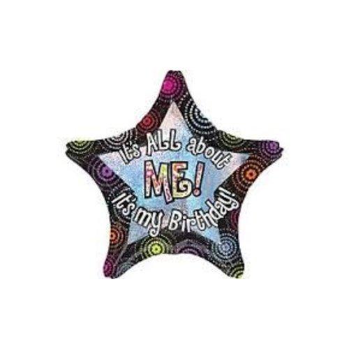 """*It's All About Me It's My Birthday 28"""" Jumbo Star Mylar Balloon"""