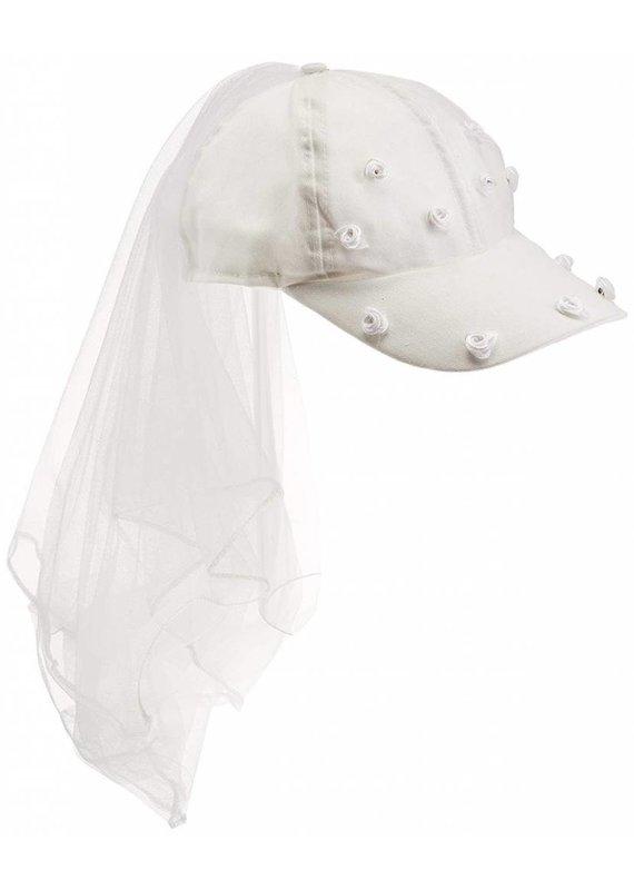 Bride White Veil Hat