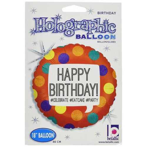"*Hashtag Birthday 18"" Mylar Balloon"