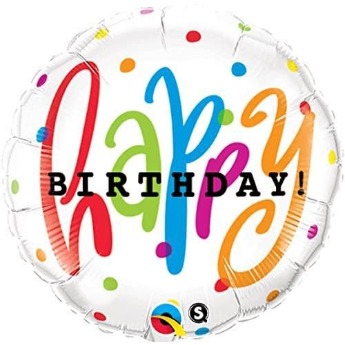 "*Happy Birthday Dots 18"" Mylar Balloon"