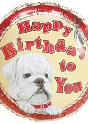 ***Bulldog Birthday Mylar Balloon