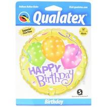 "*Yellow Happy Birthday 18"" Mylar Balloon"