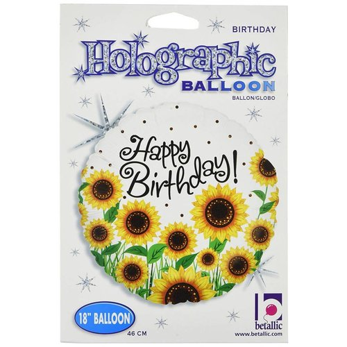 "*Sunny Sunflower Birthday 18"" Mylar Balloon"