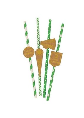 ***Game Day Paper Straws 20ct