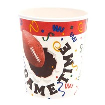 ***Football GAME TIME 7oz CUPS 8ct