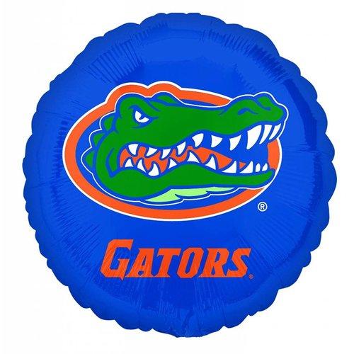 """*UF Gator 18"""" Round Blue Mylar Balloon"""