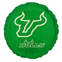 "***USF Bulls 18"" Round Mylar Balloon"