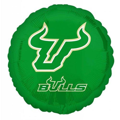 "*USF Bulls 18"" Round Mylar Balloon"