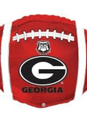 ***Georgia Bulldog Football Shape Mylar Balloon