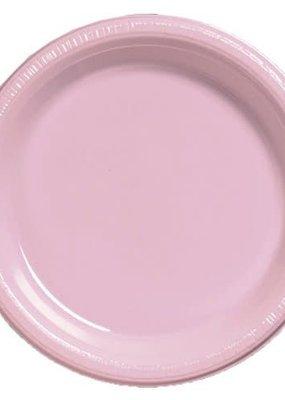 "***Classic Pink 9"" Plastic Dinner Plates 20ct"