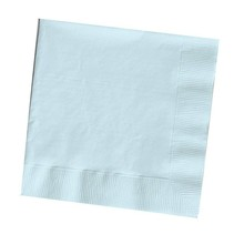 *Pastel Blue 3ply Square Dinner Napkins 25ct