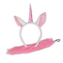 *Magical Pink Unicorn Headband & Tail Set