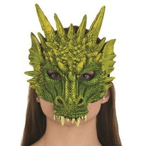 ***Dragon Mask Green Rubber