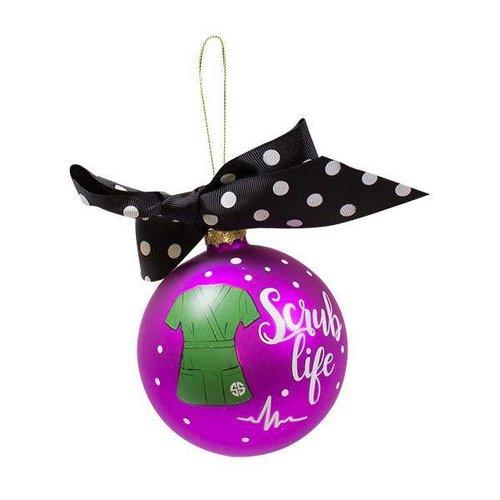 Simply Southern Scrub Life Christmas Ornament
