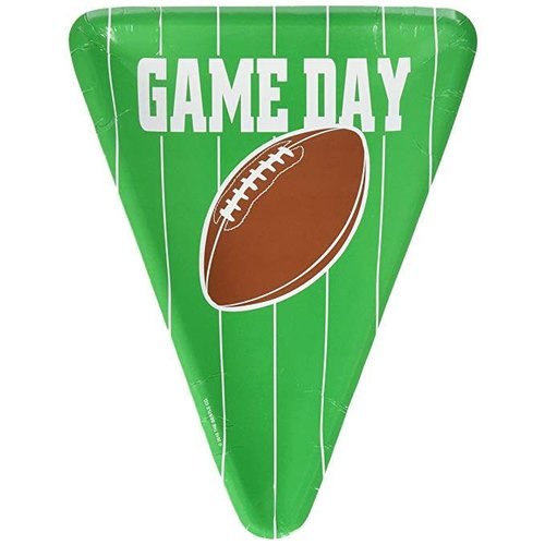 *Football Game Day Pizza Shape Plates 8ct