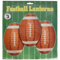 "***Football 11"" Lantern Hanging Decorations 3ct"
