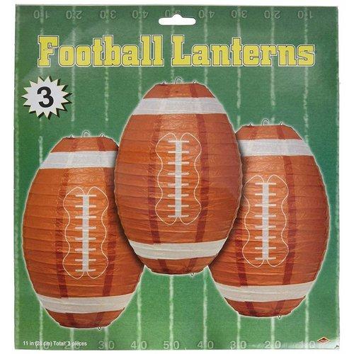 "*Football 11"" Lantern Hanging Decorations 3ct"