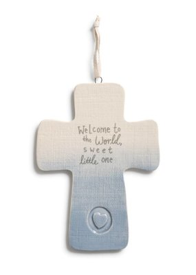 ***Blue Welcome to the World Cross