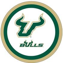 "***USF Bulls 7"" Dessert Plates 12ct"