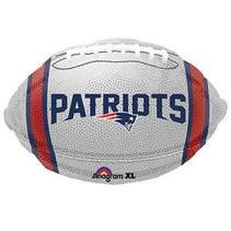 ***New England Patriots White Football Mylar