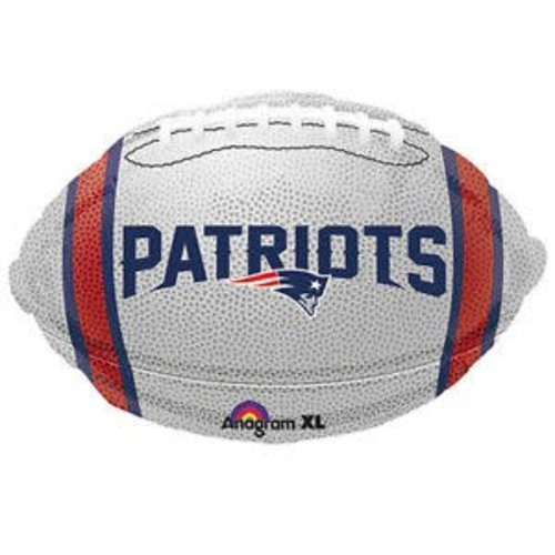 *New England Patriots White Football Mylar