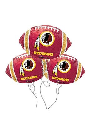 ***Washington Redskins 1ct Football Shape Balloon 1ct