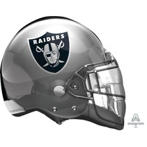 *Oakland Raiders Football Helmet Shape Balloon