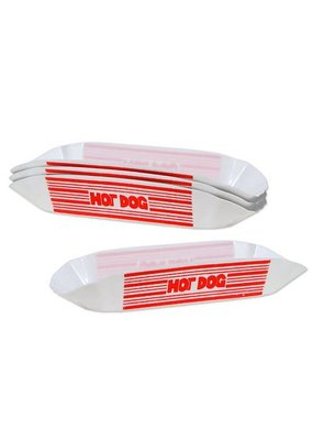 ***Plastic Hot Dog Trays