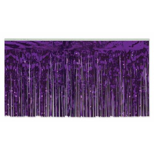 Purple Metallic Table Skirting
