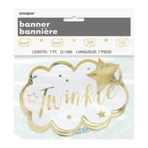Twinkle Twinkle Little Star Paper Garland, 7 ft