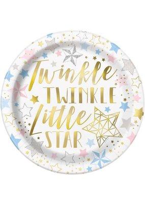 "****Twinkle Twinkle Little Star Round 9"" Dinner Plates"