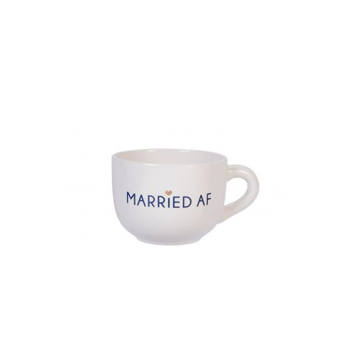 "EverEllis ""Married AF"" Large Cappuccino Mug"