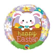 """***Easter Bunny in Basket 18"""" Mylar Balloon"""