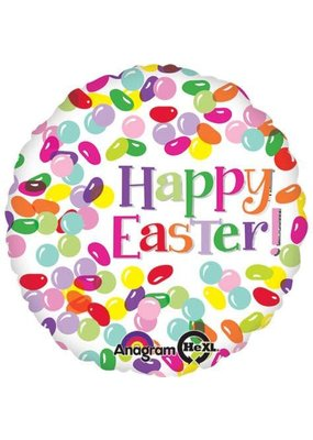 "***Easter Jelly Bean 18"" Mylar Balloon"