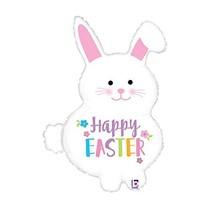 "***Easter Bunny 32"" Super Shape Mylar Balloon"