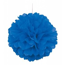 """*Royal Blue 16"""" Tissue Puff Ball"""