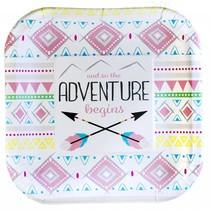 ***The Adventure Begins Girl 7in Plate