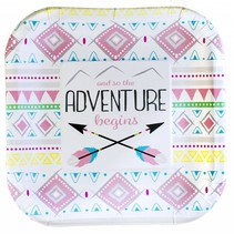 ***The Adventure Begins Girl 7in Plate