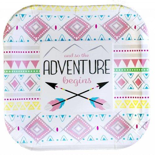 The Adventure Begins Girl 7in Plate