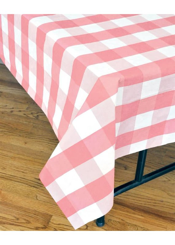 ****Pink Classic Plaid Tablecover