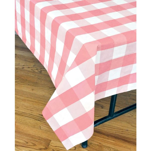 Pink Classic Plaid Tablecover