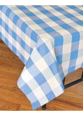 ***Blue Classic Plaid Tablecover