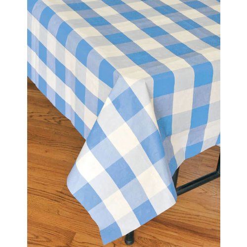 Blue Classic Plaid Tablecover