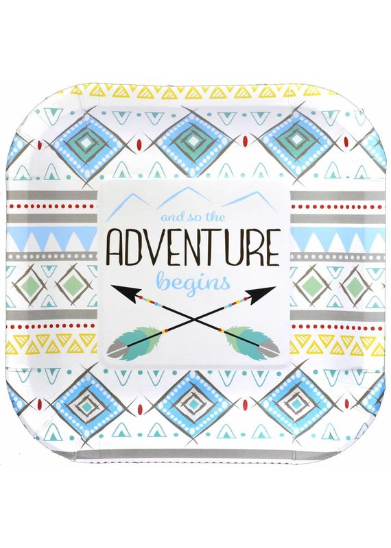 ***The Adventure Begins Boy 7in Plate