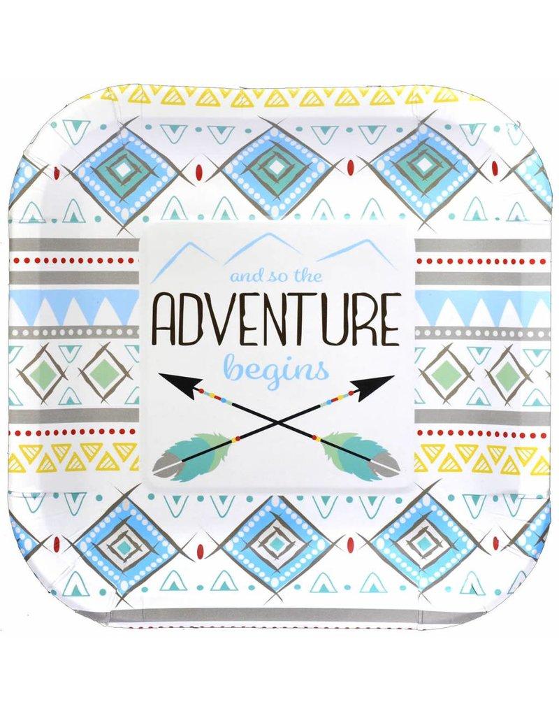 ***The Adventure Begins Boy 7in Plate