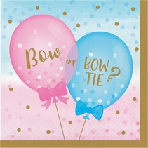 ***Gender Reveal Balloons Lunch Napkins 16ct