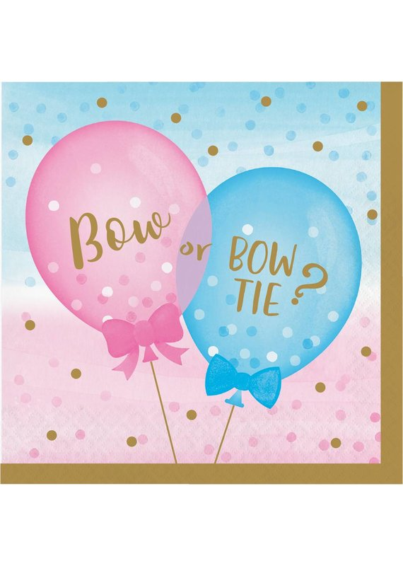 ****Gender Reveal Balloons Lunch Napkins 16ct