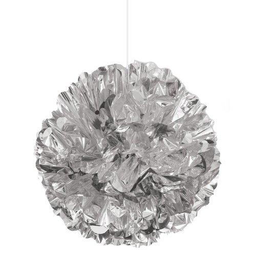 "*Silver Foil 16"" Puff Ball Decoration"